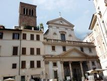 罗马- Sant ` Eustachio大教堂  免版税库存图片