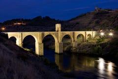 罗马alcantara的桥梁 库存照片
