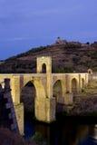 罗马alcantara的桥梁 免版税库存图片