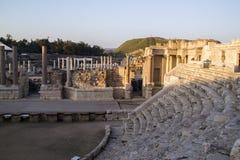 罗马Amphiteatron废墟的片段在拜特She'an (Scythopol 库存图片