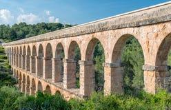 罗马Aqueduct Pont del Diable在塔拉贡纳 库存照片