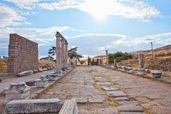 罗马asklepion的pergamum 库存图片