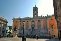 罗马Capitoline上升,意大利 免版税库存照片