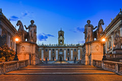 罗马Capitoline Entr上升 库存照片
