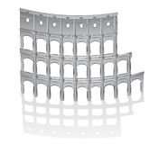 罗马colosseum的例证 库存照片