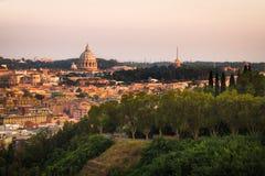罗马Lanscape从Monte马力欧的 免版税库存照片