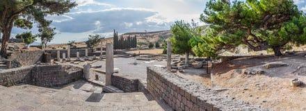 罗马Pergamum - Asklepion 库存图片