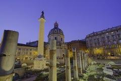 罗马ruines论坛罗迈因Italie 免版税库存照片