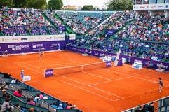 罗贝塔・文奇和Petra播放布加勒斯特的QF Cetkovska打开WTA 库存照片