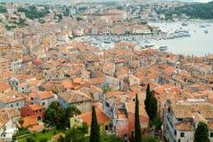 罗维尼美丽如画的镇  免版税库存图片