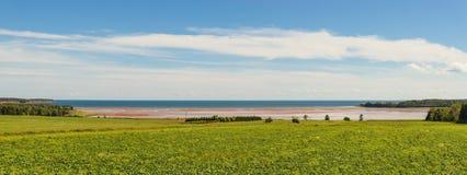 从罗洛海湾风景神色的全景 图库摄影