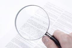 罚款被递的打印权利 免版税库存图片