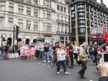 罢工在威斯敏斯特,伦敦 库存图片