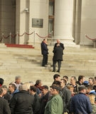罢工的人们 免版税库存图片