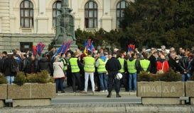 罢工的人们 免版税图库摄影