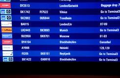 罢工的挪威AIRLIBES飞行员 库存图片