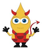 罪恶-恶魔-一点 免版税库存照片
