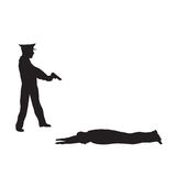 罪犯、违者和警察 免版税库存图片