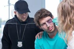 年轻罪犯在医院 免版税图库摄影
