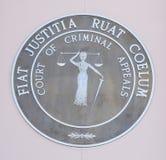 罪犯田纳西法院呼吁徽章,杰克逊,田纳西 库存照片