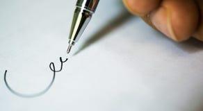署名文件 库存图片