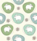 绵羊一个无缝的样式 库存图片