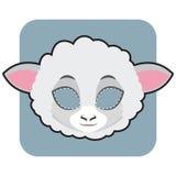 绵羊为庆祝掩没 免版税库存照片