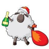 绵羊圣诞老人 免版税库存图片