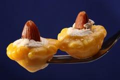 羊奶乳酪被充塞的南瓜 免版税图库摄影
