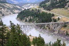 绵羊小河桥梁 库存图片