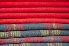 羊毛一揽子背景在亚洲市场上 免版税库存图片