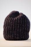 羊毛内衣的帽子特写镜头  库存照片
