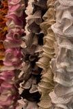 羊毛和绳子卷轴 免版税库存图片