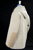 羊毛外套灰棕色 免版税库存图片