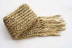 羊毛奶油色围巾 图库摄影