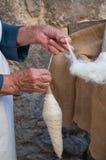 羊毛工作 免版税图库摄影