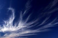 羊毛状2朵的云彩 库存图片