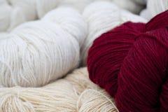 羊毛的线程数 免版税图库摄影