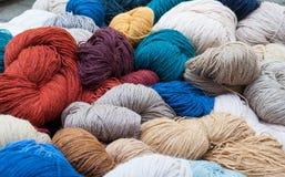 羊毛纱线 库存照片