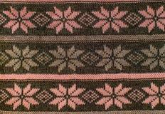 羊毛纹理变粉红色花 免版税库存图片