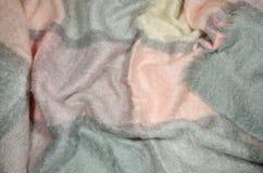 羊毛背景-毯子 库存照片