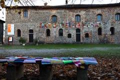 羊毛艺术2017年Corneliano Bertario -意大利 库存图片