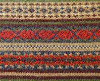 羊毛被编织的装饰品挪威人样式 库存照片