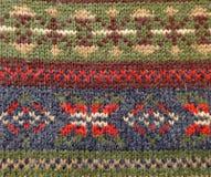 羊毛被编织的装饰品挪威人样式 免版税库存照片