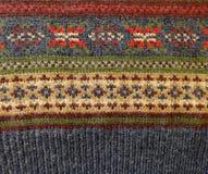 羊毛被编织的装饰品挪威人样式 免版税库存图片