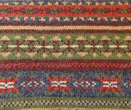 羊毛被编织的装饰品挪威人样式 库存图片