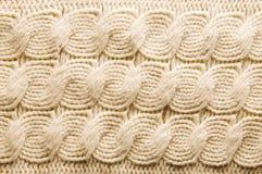 羊毛被编织的纹理 免版税库存图片