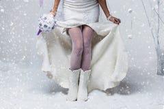 羊毛起动的新娘 库存照片