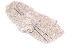 羊毛,被编织的袜子 免版税库存照片