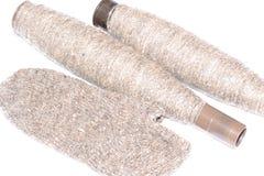 羊毛,被编织的袜子 库存图片